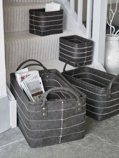 £59 - 4DEC16 - Graphite Grey Felt Basket Set