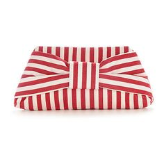 Grace Clutch, Red/White ❤ liked on Polyvore