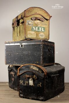 Victorian Canvas and Leather Dome Top Trunks