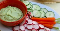 Creamy Avocado Dip - #Superfoods and only WWP 2 or WWP+ 3. #weightwatchers