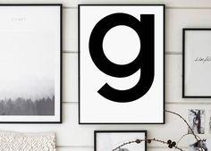 G Letter g g Print g Poster Letters Art Letters