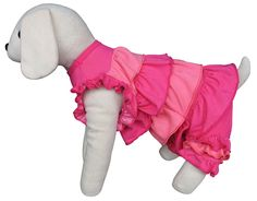 UP-Collection I Love Pink Ruffles Shirt Dress with Pants for Pets, X-Small * Check out this great image  : Dog Shirts