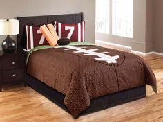 Hallmart Kids Touchdown Boys Comforter Set Teen Boys Sports Bedding Boys Bedding #football #boysbedding
