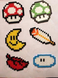 Through The Green Pipe: Pearler Bead Mario Items