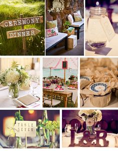 Inspiration Board | Rustic Elegance with Whimsical Accents Part II | onefinedayevents.com