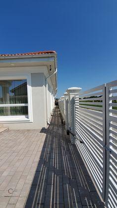 Casa pe parter in Corbeanca | CoArtCo House Foundation, Design Case, Architect Design, House Painting, House Plans, Garage Doors, House Styles, Outdoor Decor, Home Decor