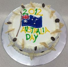 Australia Day 2012 ice cream cake for a customer
