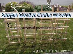 Simple Garden Trellis Tutorial
