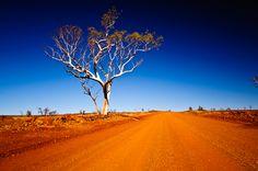 Driving through the Millstream Chichester National Park, Western Australia