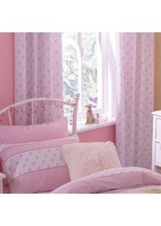 Pink Floral Curtains 72s - Tab Top - http://www.childrens-rooms.co.uk/pink-floral-curtains-72s-tab-top.html #girlscurtains #pinkfloral #prettycurtains