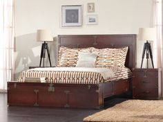Campaign Bed with Trunk Footboard - another idea for the Ikea Malm dresser hack that is to come.