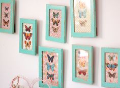 butterflies in distressed frames by Jasna Janekovic