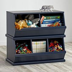 Shop Storagepalooza (Midnight Blue).  Our most popular storage item comes in a variety of rich colors.  Vegetable bins were the inspiration for our practical toy, book and game storage units.