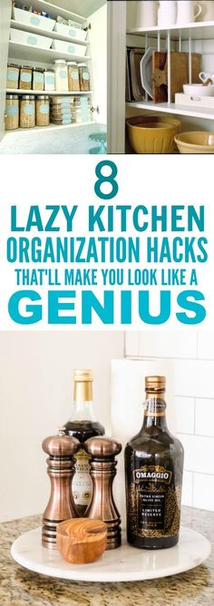 These 8 Easy Kitchen Organization Hacks are THE BEST! I'm so happy I found this GREAT post! My kitchen is going to function so much better! These really are super smart tips! So posting for later!