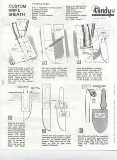 Explanations why knife sheath is useful? Instructions how to make a knife sheath. Second method for making a knife sheath. What materials and tools to use? Leather Knife Sheath Pattern, Leather Pattern, Sewing Leather, Diy Leather Sheath, Custom Leather, Leandro E Leonardo, Knife Patterns, Diy Knife, Leather Tooling Patterns