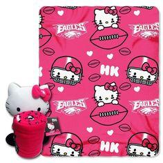 Philadelphia Eagles NFL Hello Kitty with Throw Combo