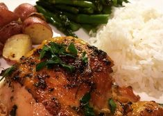 Easy Garlic Broiled Chicken Recipe and Video - Broiled chicken thighs are brushed with a mixture of butter, soy sauce, and garlic. Broiled Chicken Thighs, Slow Cooker Chicken Thighs, Garlic Chicken, Chicken Skin, Broil Chicken, Easy Dinner Recipes, Easy Meals, Dinner Ideas, Easy Recipes