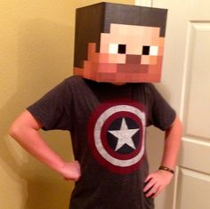 Minecraft Head Kit  Steve SkyDoesMinecraft Creeper  by LemurApps, $9.99
