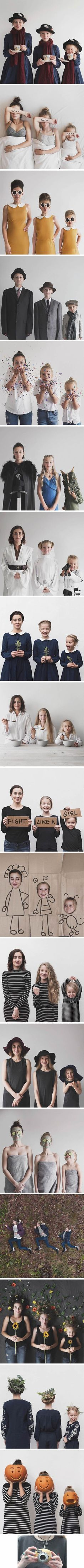 This mom having fun with her two daughters and photoshoots : MadeMeSmile