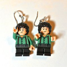 LEGO Frodo Earrings by ValGlaser on Etsy, $25.00