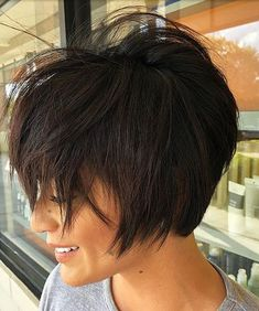 Short Messy Haircuts The UnderCut Pixie Haircut For Thick Hair haircuts messy short Undercut Short Messy Haircuts, Short Hairstyles For Women, Messy Hairstyles, Black Hairstyles, Haircut Short, Pixie Haircuts, Short Messy Bob, Long Bob, Wedge Hairstyles
