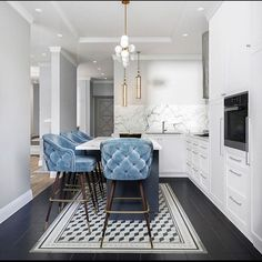 Pinspiration: Add A Touch Of Luxury With Velvet Decor - Apar.- Pinspiration: Add A Touch Of Luxury With Velvet Decor – Apartminty Baby Blue Tufted Kitchen Bar Stools & Stunning White Marble Design Living Room, Dining Room Design, Minimalist Decor, Minimalist Bedroom, Minimalist Living, Minimalist Kitchen, Modern Minimalist, Minimalist Interior, Modern Bedroom