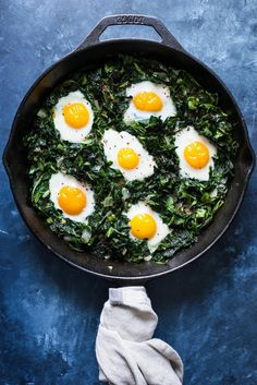 Use this healthy and easy recipe to make a Green Shakshuka With Kale and Collard Greens.