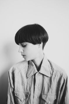 vintage short black hair