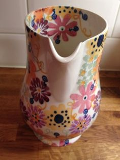 Emma Bridgewater Studio Special Water Jug for Collectors Day 2013 Decorated by Lynsey