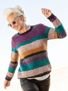 Colour scheme only Crochet Blouse, Knit Crochet, Mohair Sweater, Crochet Clothes, Baby Knitting, Knitwear, Knitting Patterns, Sweaters For Women, Couture
