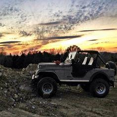 CJ in the great outdoors Jeep Cj5, Jeep Truck, 4x4 Trucks, Blue Jeep Wrangler, Jeep Wranglers, Jeep Scout, John Kim, Green Jeep, Badass Jeep