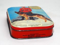 "Vintage Riley'S Toffee TIN ""Canadian Mountie ON Guard"" 