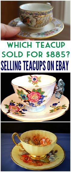 Looking to make some extra money selling items on Ebay?  Next time you are at the thrift store or a yard sale look for teacups!  Here is what you need to know about Selling Teacups on Ebay