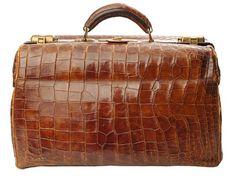 Rare French 1920s Large Crocodile Leather Doctor's Bag...400 bucks