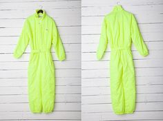 1980s Bright Neon Green Skirwear Onepiece Snow by CoverVintage, $50.00