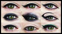 12 EYELINER VARIATIONS for all Eye Shapes. Tutorials for all of them!!