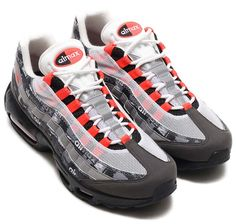 "NIKE x atmos AIR MAX 95 PRNT ""WE LOVE NIKE"" [BLACK / SAFETY ORANGE-MEDIUM ASH-DARK ASH] aq0925-002"