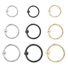 3X 14G Surgical Steel Ball Barbell Bar Tongue Ring Nipple Stud Ear Piercing Pin