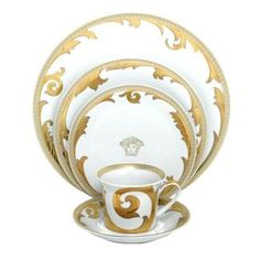 versace gold tablewear