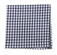 Amazon - 100% Cotton Navy Blue New Gingham Plaid Pocket Square $8.99 http://www.amazon.com/gp/product/B007NN1BGO/ref=pd_lpo_k2_dp_sr_1?pf_rd_p=486539851_rd_s=lpo-top-stripe-1_rd_t=201_rd_i=B0058OMVE6_rd_m=ATVPDKIKX0DER_rd_r=19FE1G86AVHXMSP34N4G