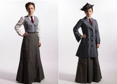 CBC Live - Style - First Photos From Murdoch Mysteries Season 7 . Edwardian Fashion, Vintage Fashion, Edwardian Era, Murdock Mysteries, Women Wearing Ties, Pretty Shirts, Steampunk Costume, Character Outfits, First Photo