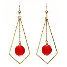 Ruby Silk Deco Earrings