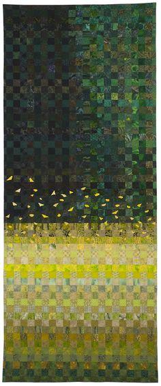 """Verge"" by Mary Beth Frezon, Seasonal Palette exhibit at SAQA"