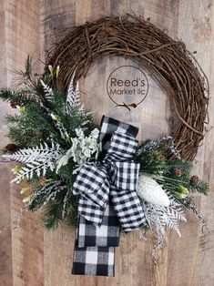 Wreaths and Floral arrangements as unique as you are. by ReedsMarketllc – The Best DIY Outdoor Christmas Decor Farmhouse Christmas Decor, Country Christmas, Outdoor Christmas, Christmas Crafts, Christmas Decorations, Prim Christmas, Holiday Wreaths, Winter Wreaths, Spring Wreaths