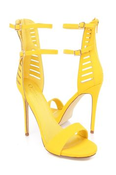 Dress up in these sexy single sole heels featuring; nubuck, cut out detail double ankle strap, back zipper closure, smooth lining, and cushioned footbed. Approximately 4 3/4 inch heels.