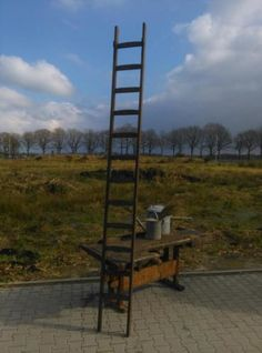 Oude Brocante Ladder XXL 330 cm