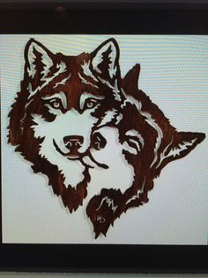 wolf canine couple