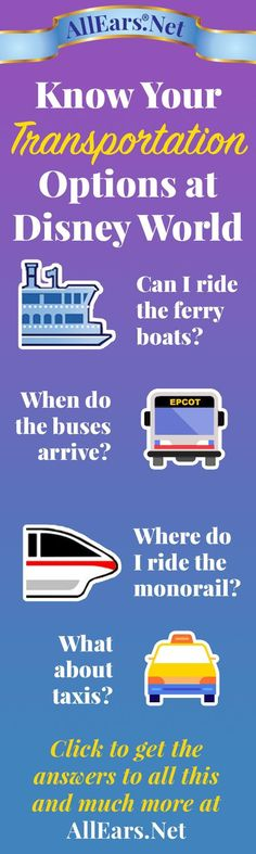 Great guide for transportation at #Disney. Request a quote for your next vacation from Destinations in Florida at http://destinationsinflorida.com/pinterest