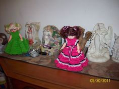 This is a air freshner doll. It is half a body and you crochet the dress to cover the air freshner.  You can buy the doll body at Hobby Lobby.