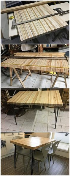 In the shipping wood pallet ideas, the use of designing table has been always set as one of the ultimate choices. This image will show you one such kind of idea! This table or you can even make it call as the dining table is so classy and much uniquely designed out in fabulous impressions.